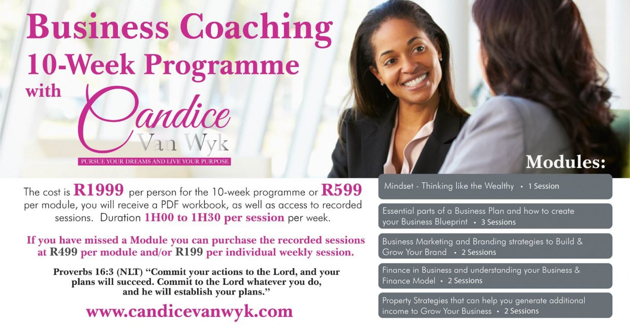 Business Coaching Programme Sessions